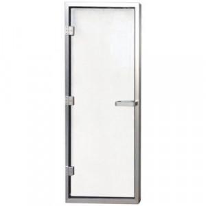 Дверь для хаммама 1890х690 (8 мм) левая, нерж. сталь